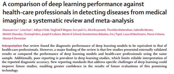 Estudio de deep learning en salud para el diagnóstico usando imágenes. Tecnologías empergentes