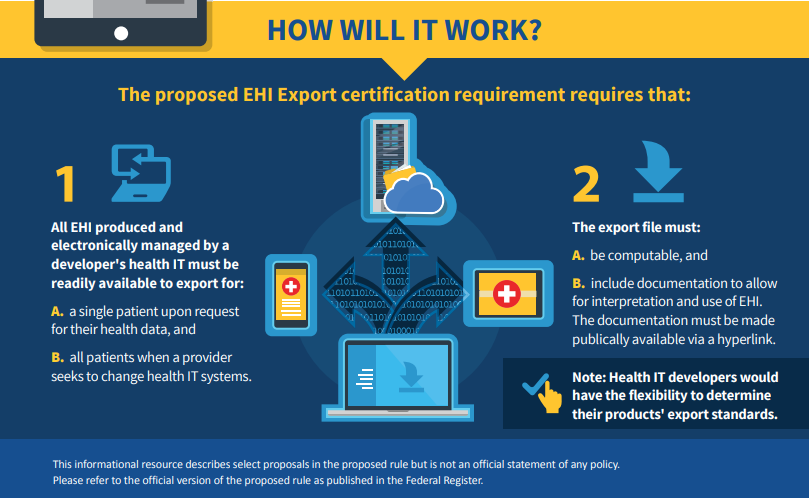 Electronic Health Information (EHI) Export Certification