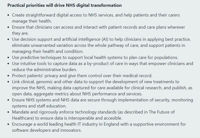 NHS Long Plan y la transformación digital.
