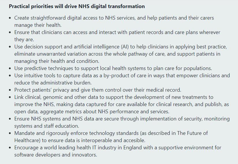 NHS Long Plan y la transformación digital.