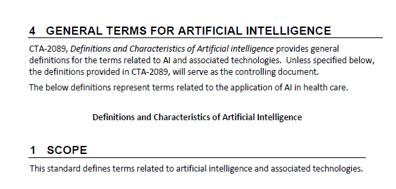 Inteligencia Artificial en salud. Estándares