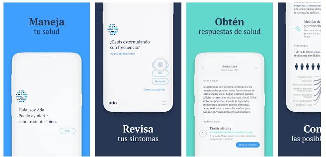 App Ada en español. Inteligencia artificial para la gestión de la salud del paciente.